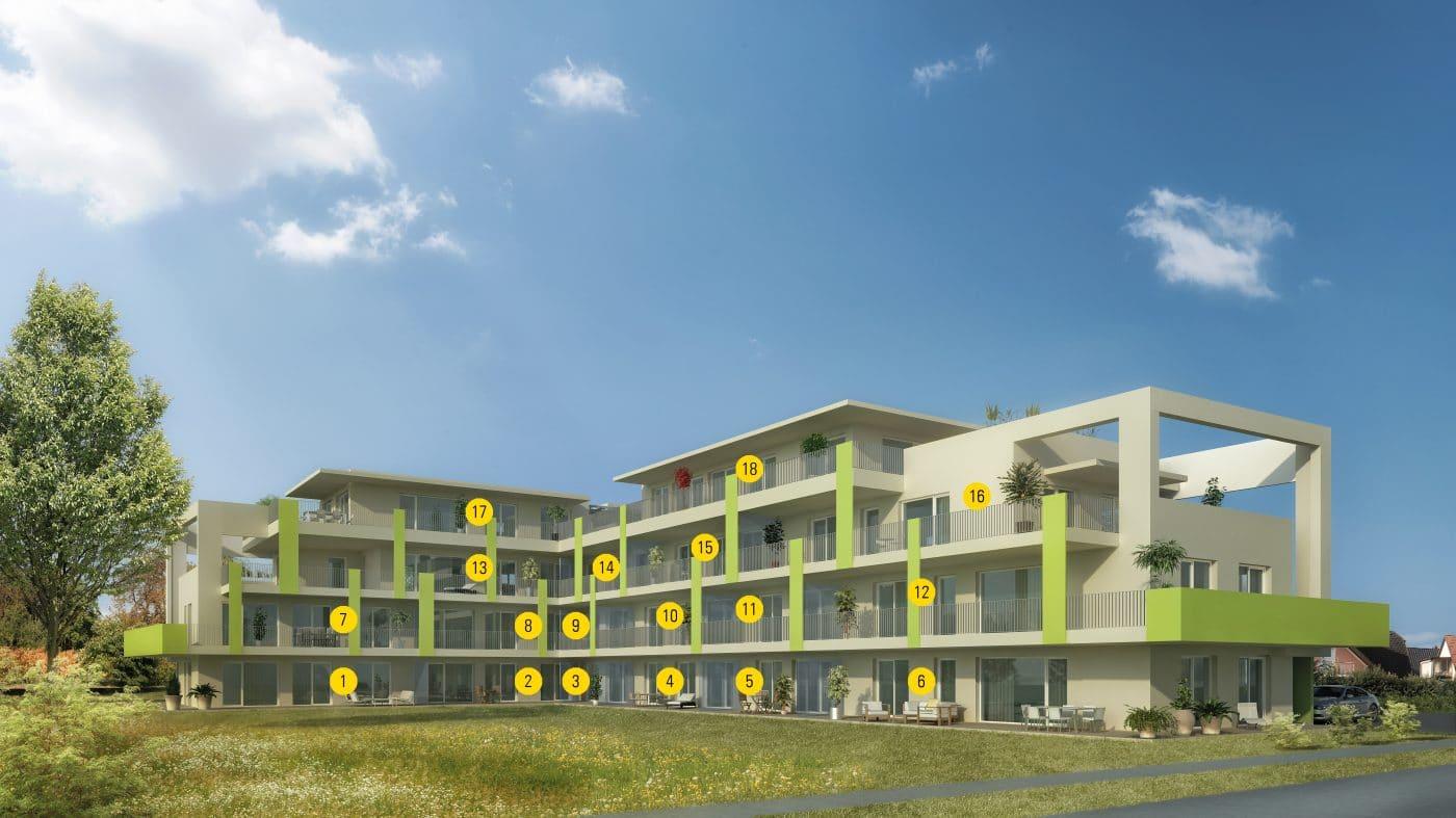 OASIS_Premstätten_Ansicht_Nummeriert_Wohngebäude