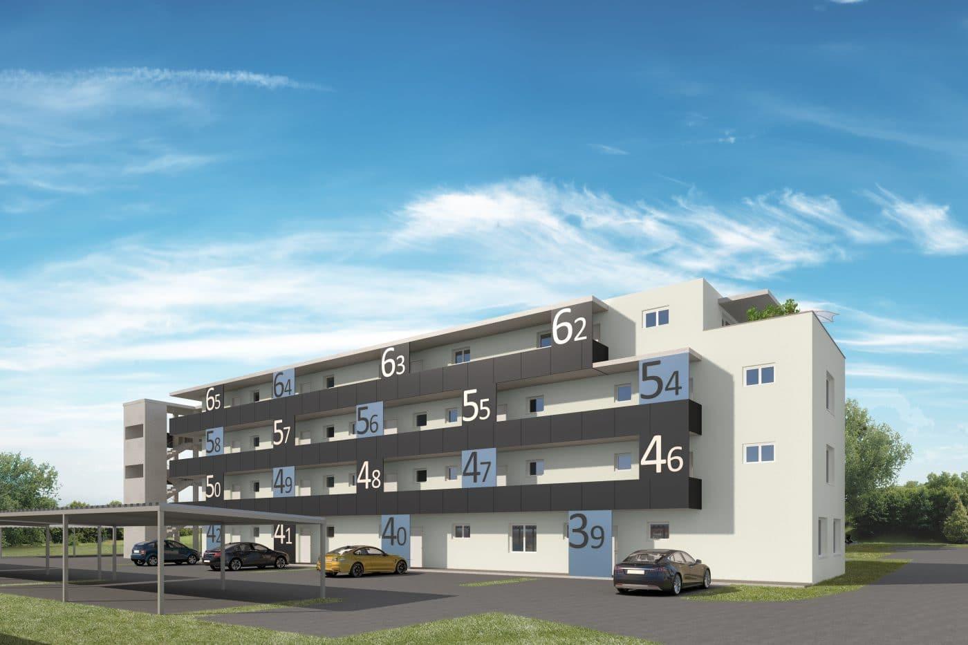 Wohnungsnummerierungen Bauprojekt Seiersberg Haus 10