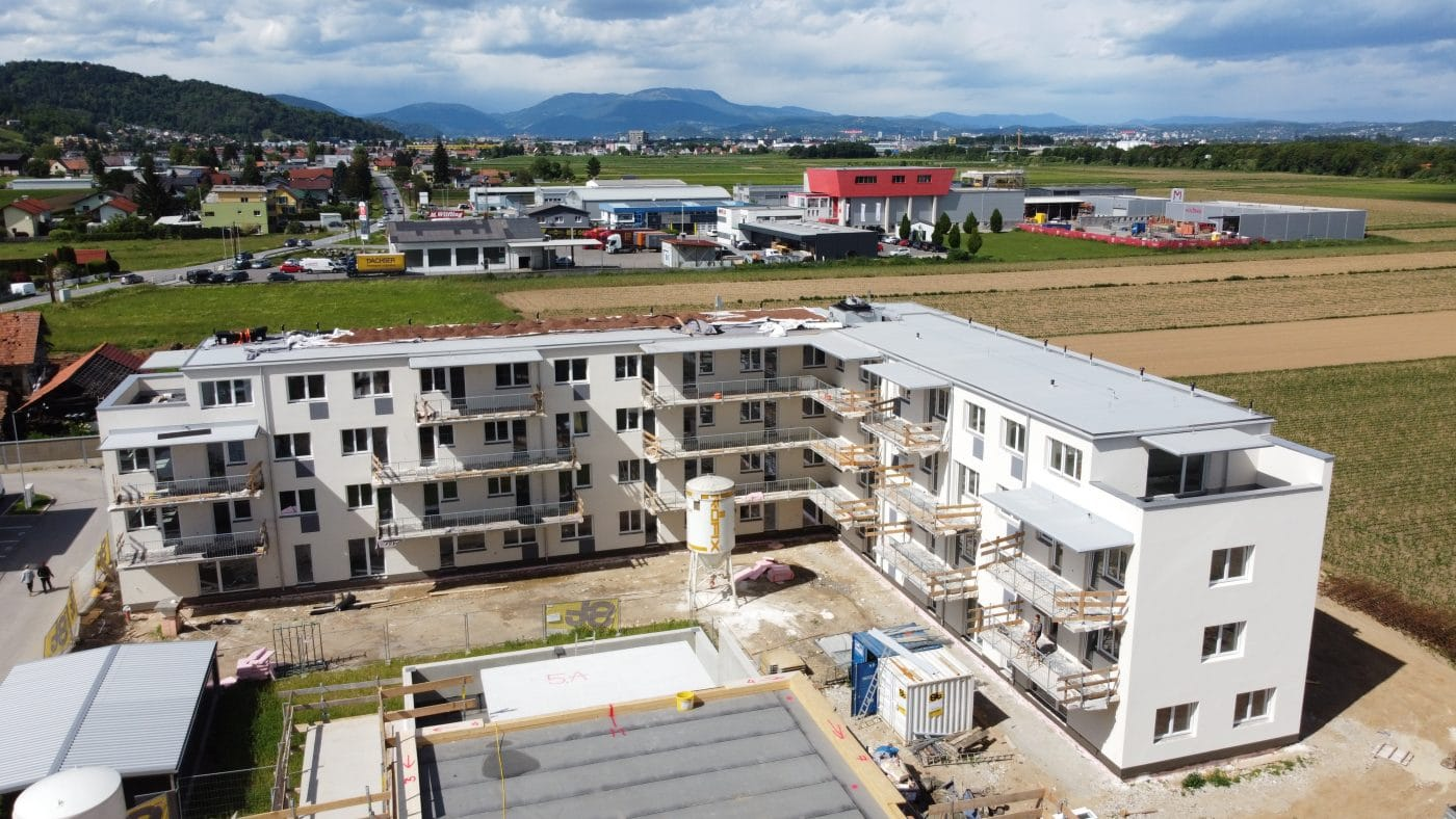 Bauprojekt in Seiersberg, Ansicht Bauphase