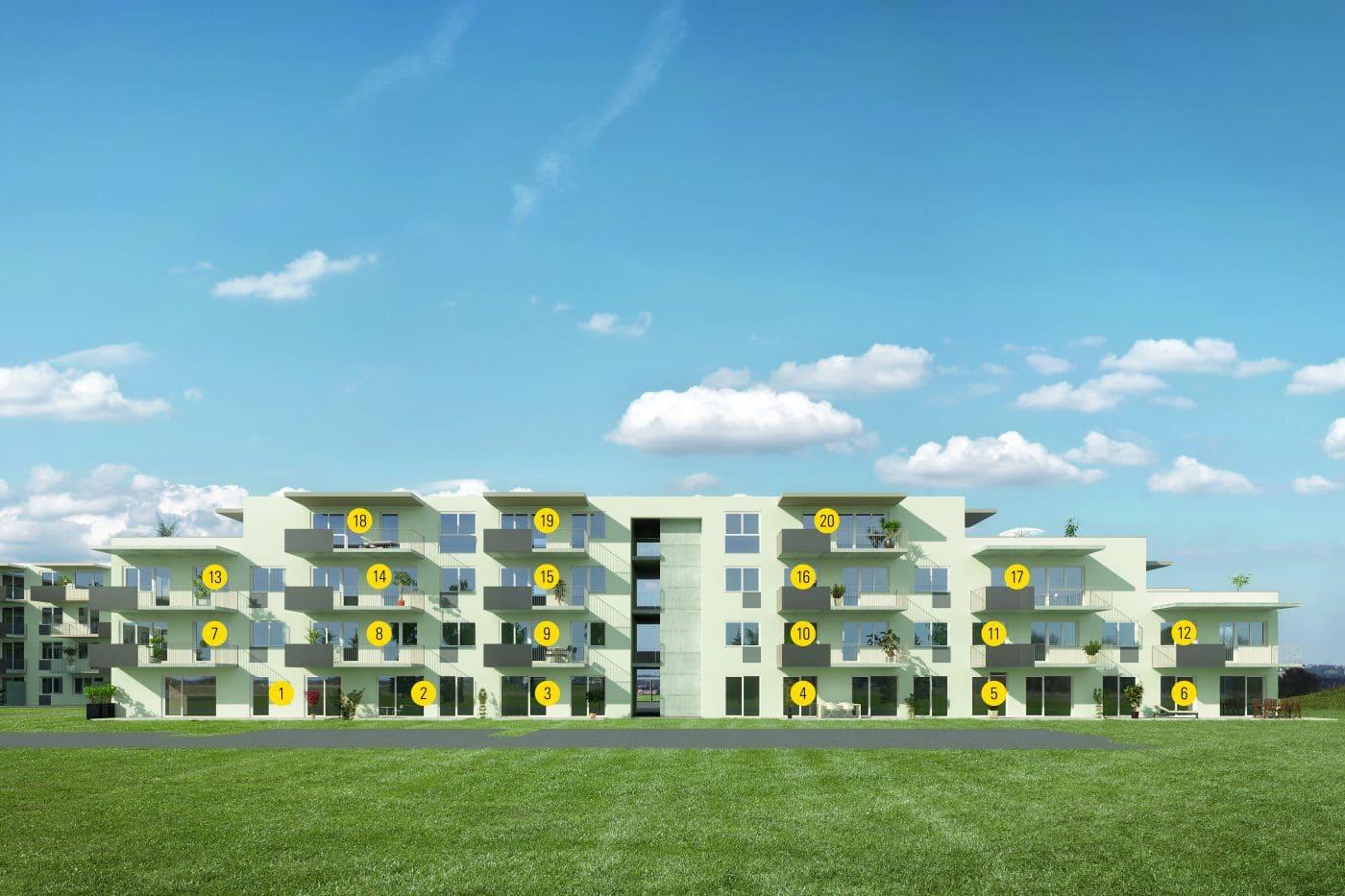 Wohnungsnummerierungen Bauprojekt Seiersberg