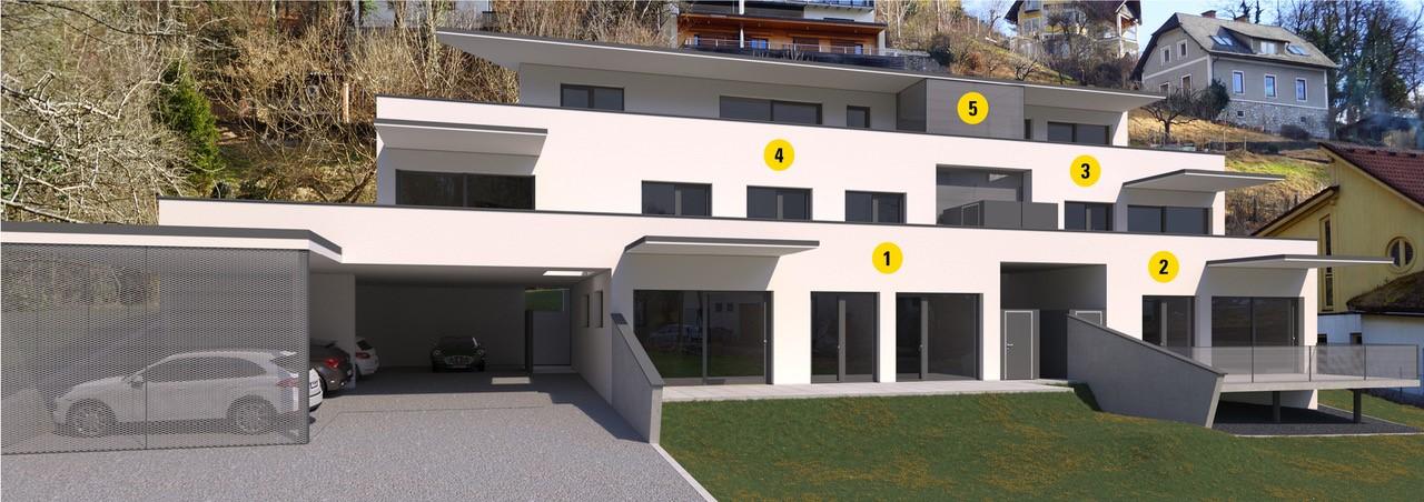 Wohnungsnummerierungen OASIS Josefbach
